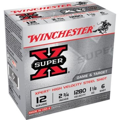 "Winchester Super-X Xpert High Velocity Steel Shot 12ga 2-3/4"" 6-Shot"