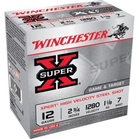 "Winchester Super-X Xpert High Velocity Steel Shot 12ga 2-3/4"" 7-Shot"