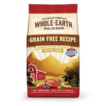 Whole Earth Farms Grain Free Pork, Beef & Lamb Recipe Dry Dog Food