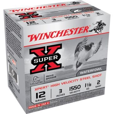 "Winchester Super-X Xpert High Velocity Steel Shot 12 Gauge 3"" 2-Shot"