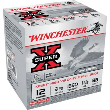 "Winchester Super-X Xpert High Velocity Steel Shot 12ga 3-1/2"" BB-Shot"
