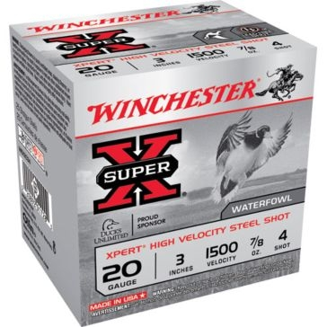 "Winchester Super-X Xpert High Velocity Steel 20ga 3"" 4-Shot"