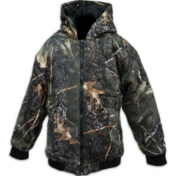 Boy's Camo Insulated Hoodied Jacket