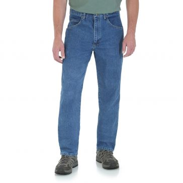 Wrangler Rugged Wear Relaxed Stretch Flex Denim Jean Stonewashed