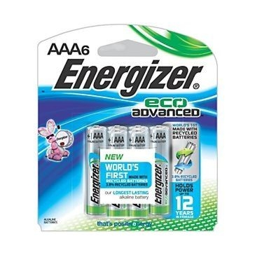 Energizer EcoAdvanced AAA Batteries 6PK