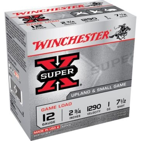 "Winchester Super-X Game Load 12ga 2-3/4"" 7-1/2-Shot"