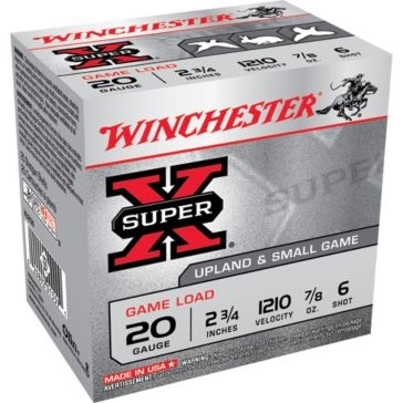 "Winchester Super-X Game Load 20ga 2-3/4"" 6-Shot"