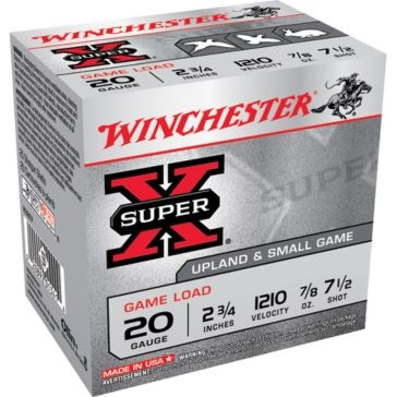"Winchester Super-X Game Load 20ga 2-3/4"" 7-1/2-Shot"