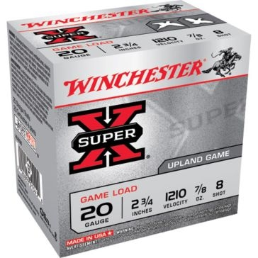 "Winchester Super-X Game Load 20ga 2-3/4"" 8-Shot"