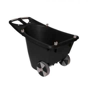 Gracious Living Black Resin Wheeled Yard Cart
