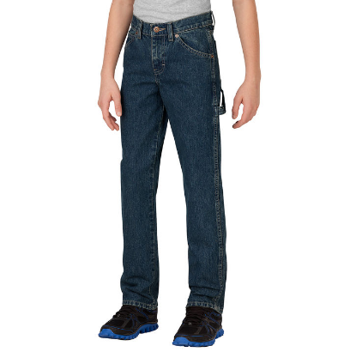 Dickies Boys' FlexWaist® Relaxed Fit Straight Leg Denim Carpenter Jeans