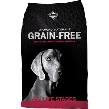 Diamond Naturals Grain Free Beef & Sweet Potato Formula Dry Dog Food