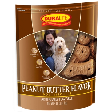 Duralife Peanut Butter Dog Biscuits 4lb
