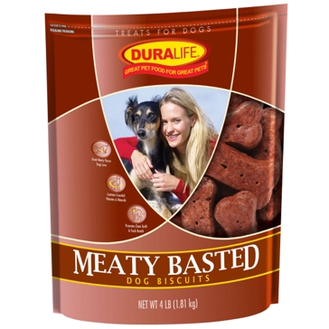 Duralife Meaty Basted Dog Biscuits 4lb