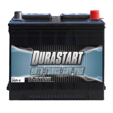 Dura-Start Top Post 635CA Auto Battery 26R-4