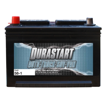 Dura-Start Top Post 635CA Auto Battery 58-1