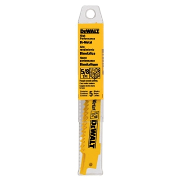 "Dewalt 12"" 5/8 TPI Taper Back Bi-metal Reciprocating Saw Blade (5 pack) DW4849"
