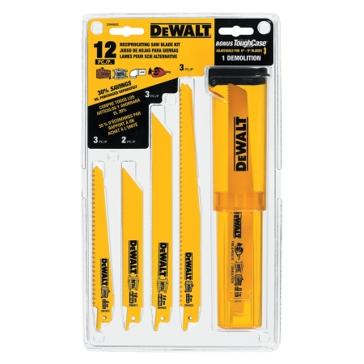DeWALT 12-Piece Bi-Metal Reciprocating Saw Blade Set DW4892
