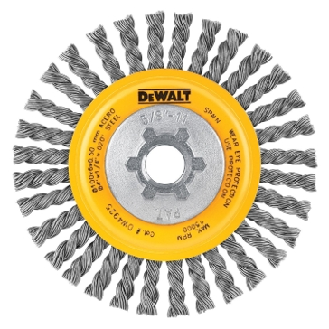 """Dewalt 4"""" x 5/8""""-11 HP .020 Carbon Stringer Wire Wheel DW4925"""