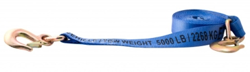 Erickson 2inx20ft 10000lb Tow Strap Forged Safety Snap Hook 9301