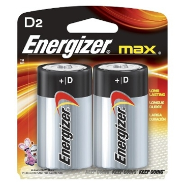 Energizer Max D Batteries 2PK