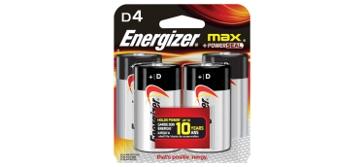 Energizer Max D Batteries 4