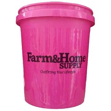 Farm & Home Logo 5 Gallon Bucket Pink