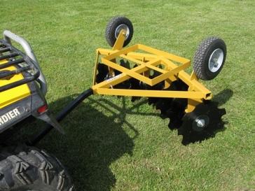 Worksaver ATV-Garden Tractor Flip-Over Single Gang Disc Implement FOD-16
