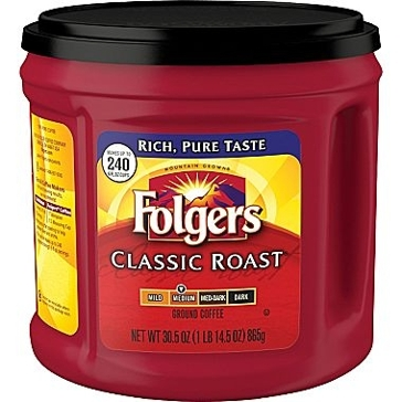 Folgers Classic Roast Ground Coffee 30.5oz