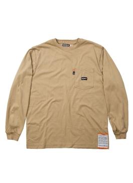 Flame Resistant Long Sleeve Crew Neck T-Shirt  Khaki