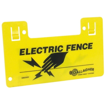 Gallagher Electric Fence Warning Sign G602404