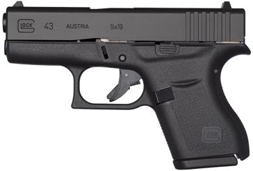 "GLOCK 43 Slimline 9mm 3.39"" Subcompact Handgun"