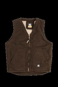 Berne Washed V-Neck Bark Vest