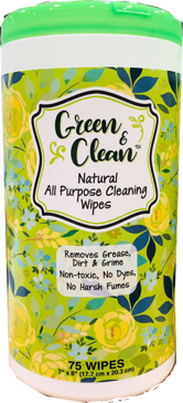 Green & Clean Natural All-Purpose Cleaning Wipes, 75 Count