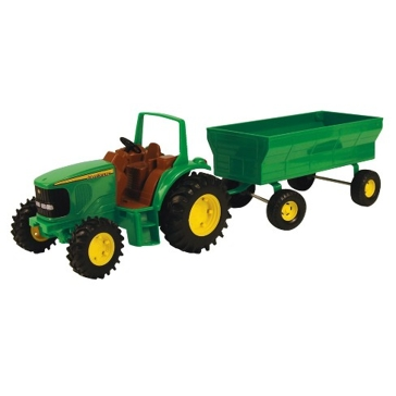 Ertl John Deere Tractor w/ Flarebox Wagon