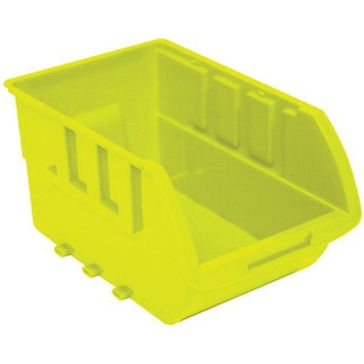 Homak Extra Large Plastic Yellow Storage Bin HA01001595