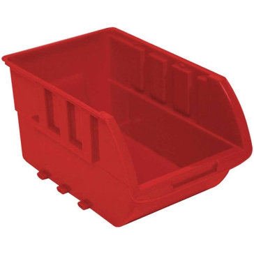 Homak Small Plastic Red Storage Bin HA01010644