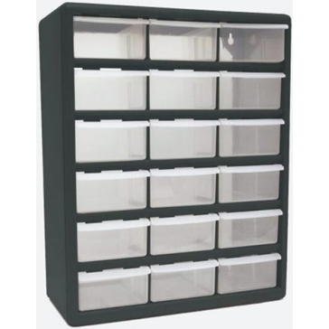 Homak 18-Drawer Parts Organizer HA01018001