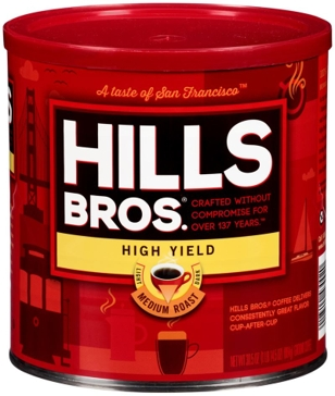 Hills Bros. High Yield Medium Roast Ground Coffee 30.5oz