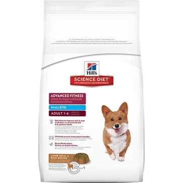 Hill's Science Diet Adult Advanced Fitness Small Bites Lamb Meal & Rice Dry Dog Food