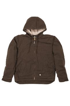 Berne Mens Washed Hooded Work Coat HJ626