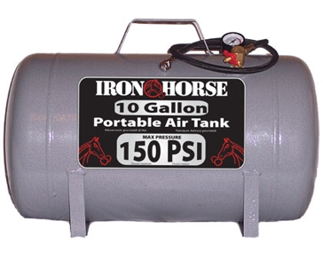 Iron Horse 10 Gallon 150 PSI Portable Air Tank IHCT-10
