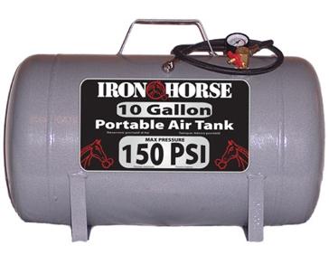 Iron Horse 10 Gallon 150 PSI Portable Air Tank IHCT-10