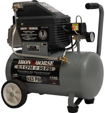 Iron Horse 6.5ga 125psi Portable Air Compressor IHHP1065L
