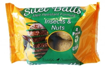 St. Albans Bay Suet Plus 4 Pack Balls Insects & Nuts