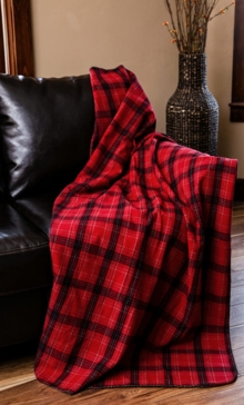 Una Plaid Throw With Shearling Back