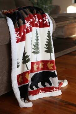 Carstens Tall Pine Plush Throw