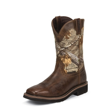 Justin Trekker Camo Realtree Boots WK4676