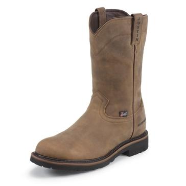 """Justin Mens 10"""" Wyoming Worker II Waterproof Cowboy Boots"""