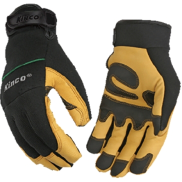 KincoPro Unlined Grain Goatskin Leather Driver Gloves